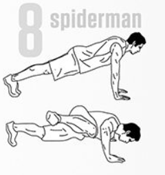spiderman pushup