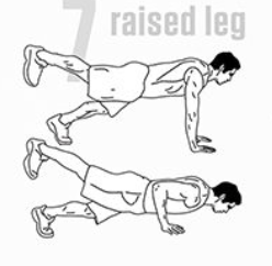 leg raised pushup