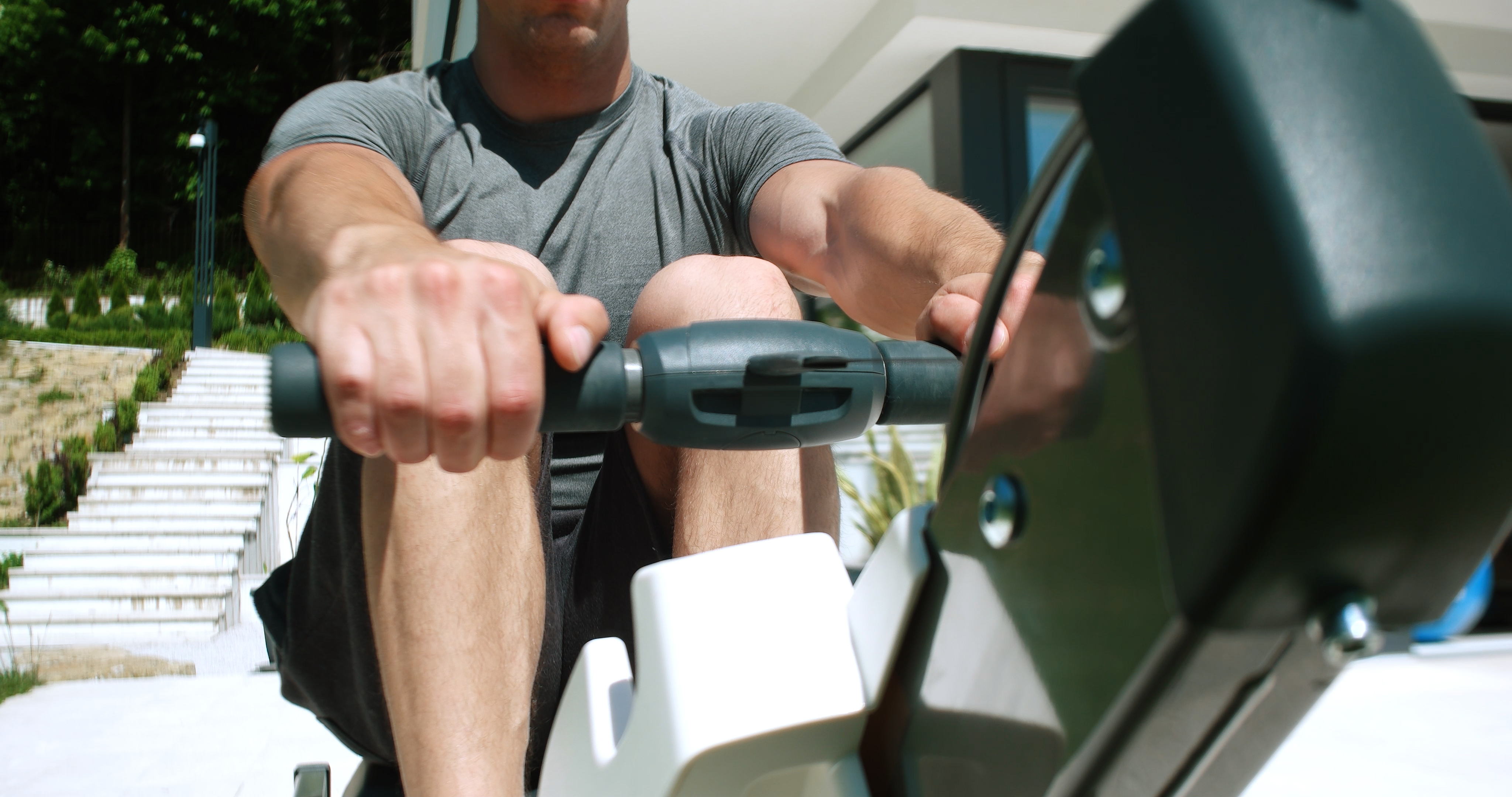 the concept2 model E indoor rowing machine with PM5