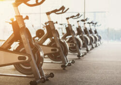 exercise bike flywheel weight